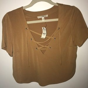 NWT Express Lace Up Crop Top!